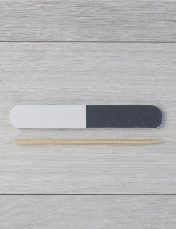 NAIL FILE AND CHERRY WOOD STICK, NO LOGO | GFL Skin care